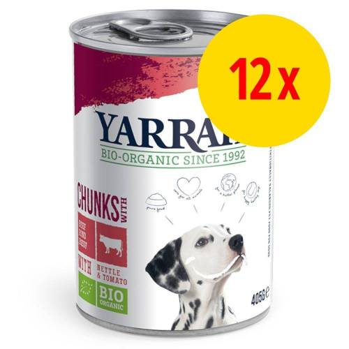 Yarrah 12 x 400/405g Bio Huhn-Mix, 3 Sorten Yarrah Hundefutter nass