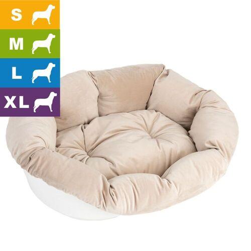 Ferplast Hundekorb Sofà mit Bezug - L 82 x B 59,5 x H 25 cm