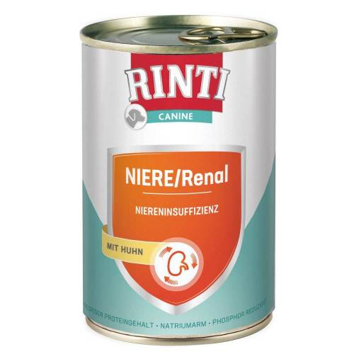 RINTI 12 x 400g Nieren-Diät Huhn RINTI Canine Hundefutter nass