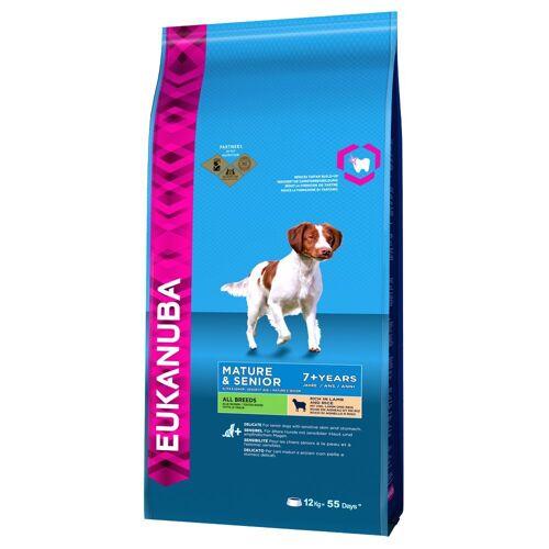 Eukanuba 2 x 12kg Mature & Senior Lamm & Reis Eukanuba Hundefutter trocken