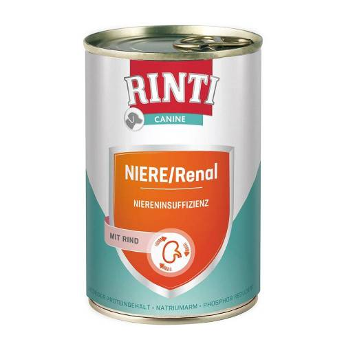 RINTI 6 x 400g Nieren-Diät Rind RINTI Canine Hundefutter nass