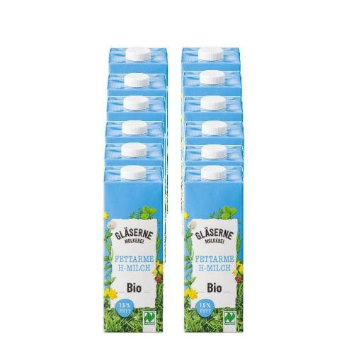 Glaeserne Molkerei 12 x 1 l Glaeserne Molkerei Bio H-Milch 1,5%