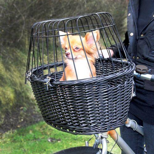 Trixie Fahrradkorb schwarz - L 50 x B 35 x H 41 cm