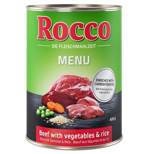Rocco 6 x 400g Menü Rind Rocco Hundefutter nass