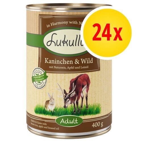 Lukullus 24 x 400g Naturkost Lachs & Huhn Lukullus Hundefutter nass