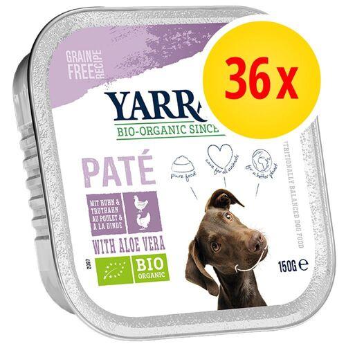 Yarrah 36 x 150g Bio Truthahn mit Bio Aloe Vera Yarrah Hundefutter nass