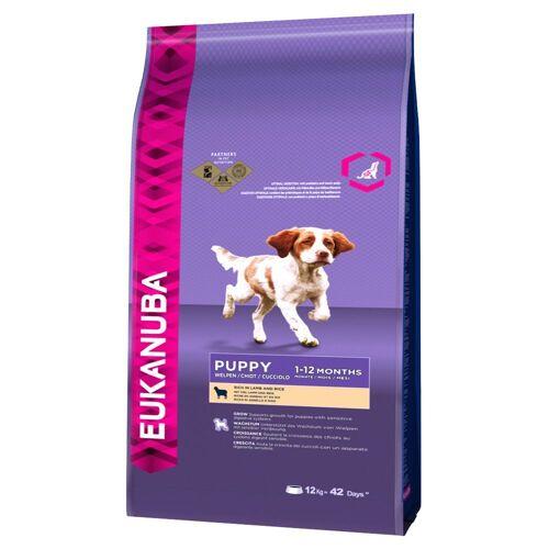 Eukanuba 2 x 12kg Puppy Small/Medium Lamm & Reis Eukanuba Hundefutter trocken