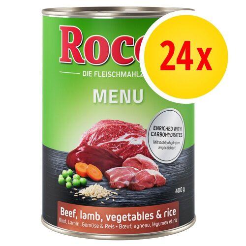 Rocco 24 x 400g Rind Rocco Menü Hundefutter nass