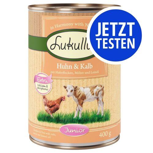 Lukullus 6 x 400g Junior Mix Lukullus Hundefutter nass