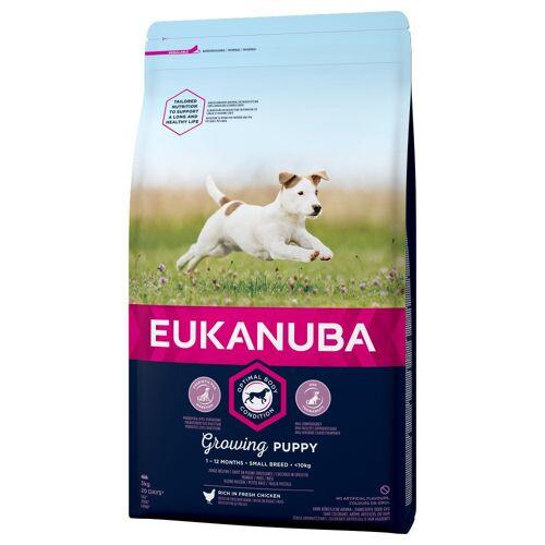 Eukanuba 3 x 3kg Puppy Small Breed Huhn Eukanuba Growing Hundefutter trocken