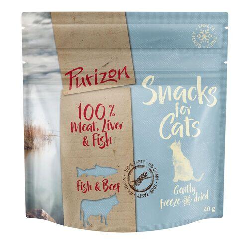 Purizon Cat Purizon Snack Fisch & Rind - 3 x 40 g