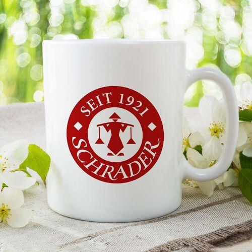 Kaffeebecher Schrader Zugabeartikel