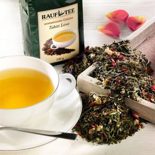 Rauf Tee aromatisierter grüner Tee Tahiti Love