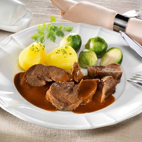Hasenbraten in Rotweinsauce