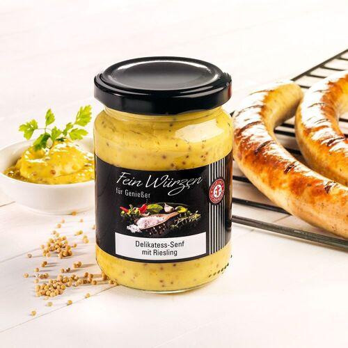 Delikatess Senf mit Riesling