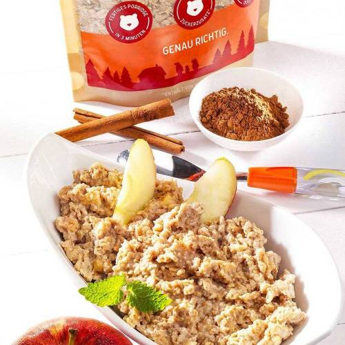 3Bears Zimtiger Apfel Porridge vegan