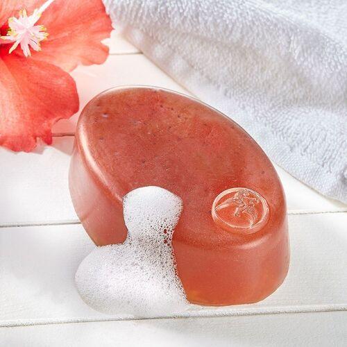 Hibiskusblüten Seife mit Bergkristall