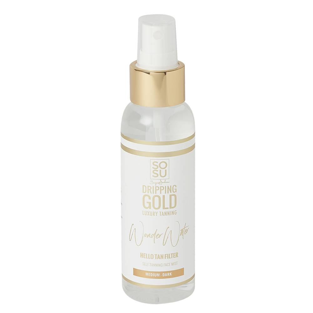 Jackson Dripping Gold Wonder Water Self Tanning Facial Mist Medium Dark 100ml