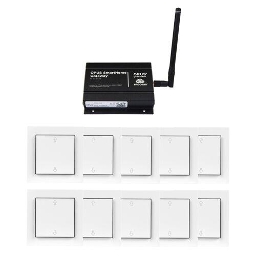 OPUS Komplettset Rollladen - Gateway + 10x Rollladenschalter