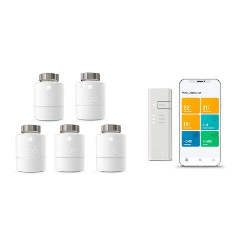 tado° Thermostat Starter Set 5 WLAN-Heizkörperthermostate+Bridge