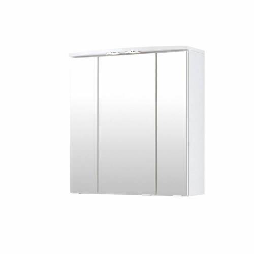 Spiegelschrank UDINE-03, weiß, mit Halogen, B x H x T ca.: 60 x 64 x 20cm