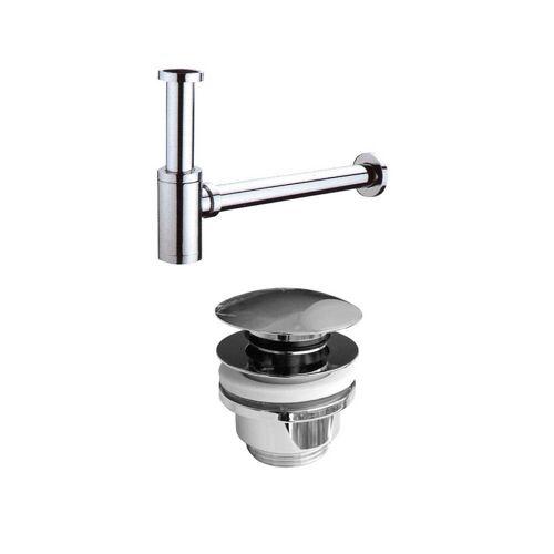 Waschtisch-Anschluss Spar-Set mit Siphon und Pop-Up Ventil