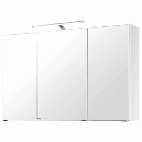 Spiegelschrank 100cm weiß PADUA-03 LED-Aufbauleuchte, B/H/T ca. 100/64/20 cm