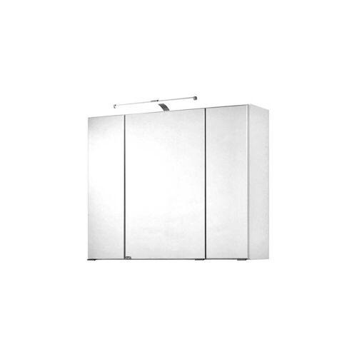 Spiegelschrank 80cm weiß PADUA-03 LED-Aufbauleuchte, B/H/T 80/64/20 cm