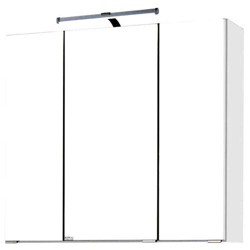 Spiegelschrank 70cm weiß PADUA-03 LED-Aufbauleuchte, B x H x T ca.: 70 x 66 x 20 cm