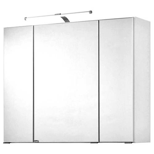 Spiegelschrank 90cm weiß PADUA-03 LED-Aufbauleuchte, B/H/T ca. 90/66/20 cm