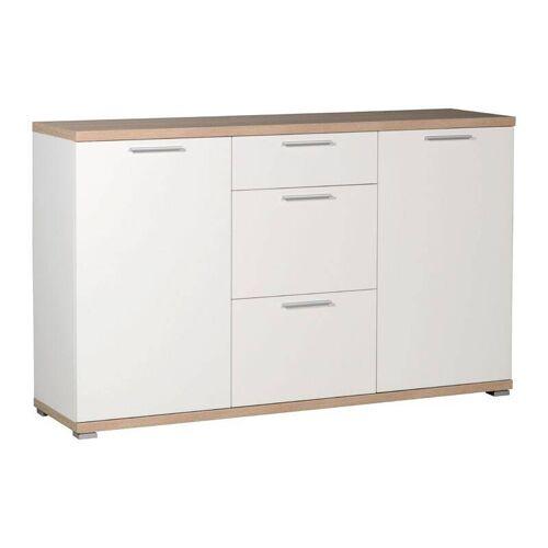 Sideboard MONTREAL-01 weiß, Sonoma Eiche, B x H x T: ca. 144 x 88 x 40 cm