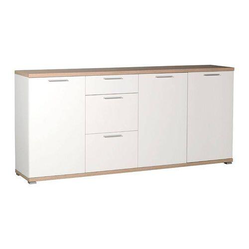 Sideboard MONTREAL-01 weiß, Sonoma Eiche, B x H x T: ca. 192 x 88 x 40 cm