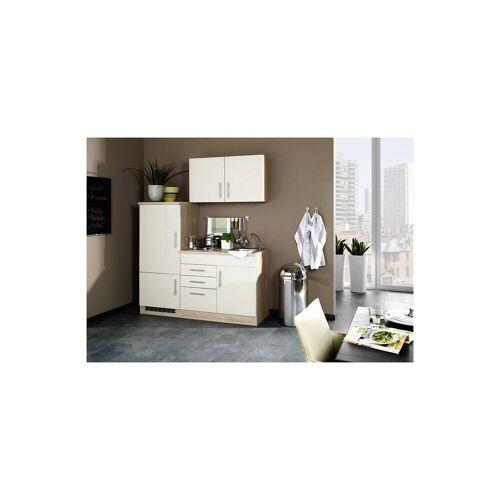 Single Küchenzeile 160 TERAMO-03 Hochglanz Creme B x H x T ca. 160 x 200 x 60cm