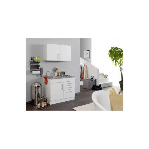 Mini-Küchenzeile TERAMO-03 Weiß B x H x T ca. 100 x 200 x 60cm