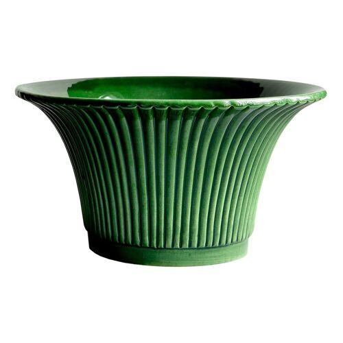 Bergs Potter Daisy Blumentopf glasiert 25cm grün