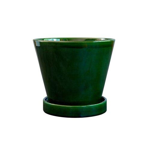 Bergs Potter Julie Blumentopf glasiert 13cm Green emerald