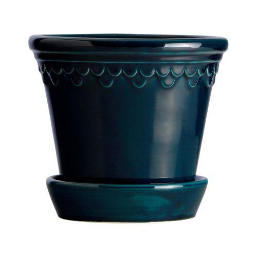 Bergs Potter Kopenhagen Blumentopf glasiert Ø16 cm Blau