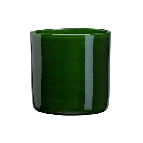 Bergs Potter Romeo Blumentopf glasiert Ø13cm grün