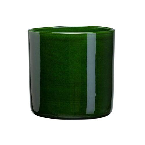 Bergs Potter Romeo Blumentopf glasiert Ø15cm grün