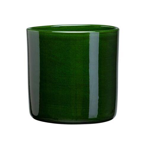 Bergs Potter Romeo Blumentopf glasiert Ø17cm grün