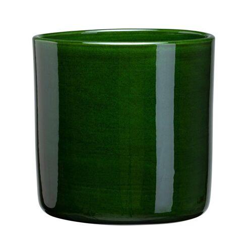 Bergs Potter Romeo Blumentopf glasiert Ø19cm grün