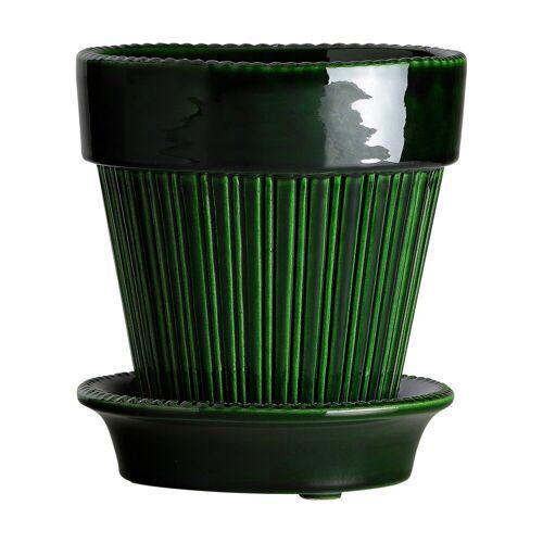 Bergs Potter Simona Blumentopf glasiert Ø16cm grün