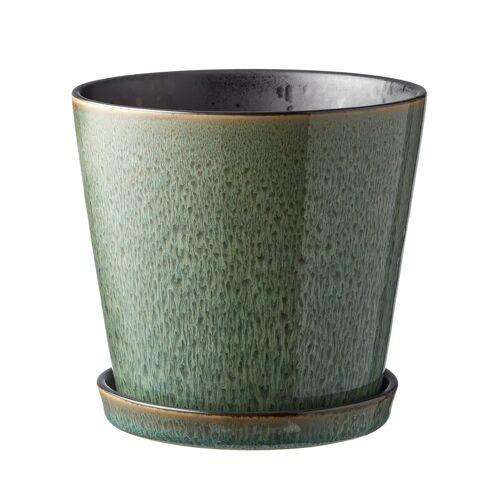 Bitz Blumentopf Ø14cm grün-schwarz