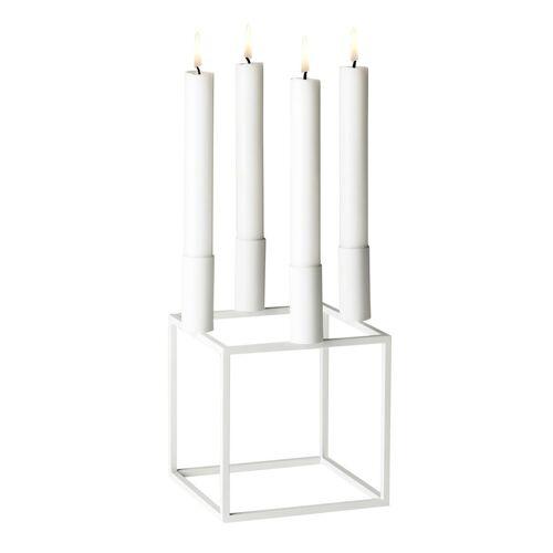By Lassen Kubus 4 Kerzenhalter weiß