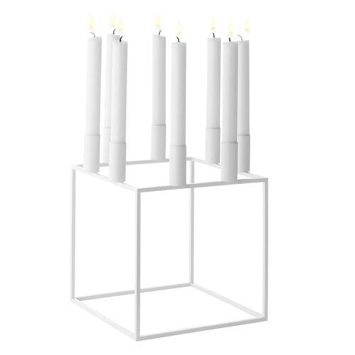 By Lassen Kubus 8 Kerzenhalter weiß