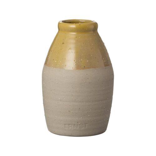 Ernst halbglasierte Vase gelb 11cm