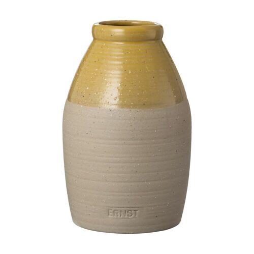 Ernst halbglasierte Vase gelb 16cm
