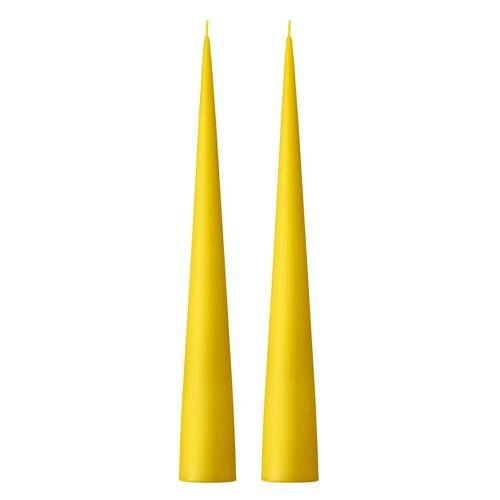 ester & erik Kegelkerze 34cm 2er Pack matt Gelb 15