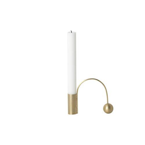 Ferm Living Balance Messing Kerzenhalter Kerze