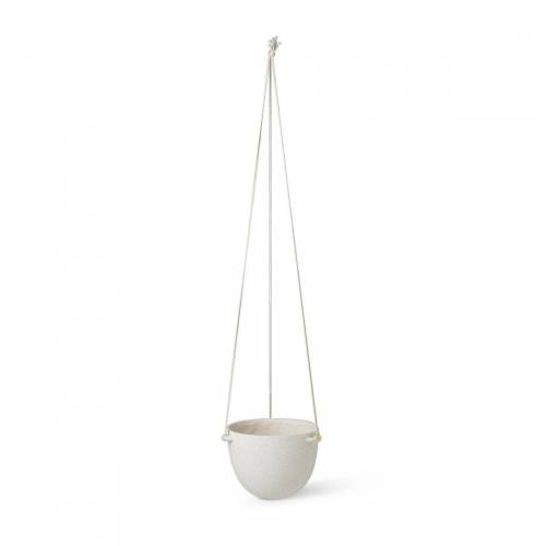 Ferm Living Speckle hängender Blumentopf Ø20,5cm Off-white